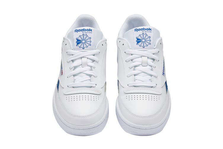 Reebok Men's Club C Revenge Sneaker (White/Collegiate Royal, Size 11 US)