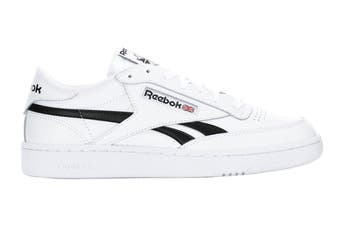 Reebok Men's Club C Revenge Sneaker (White/White/Black, Size 12 US)