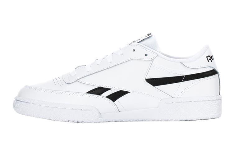 Reebok Men's Club C Revenge Sneaker (White/White/Black, Size 13 US)