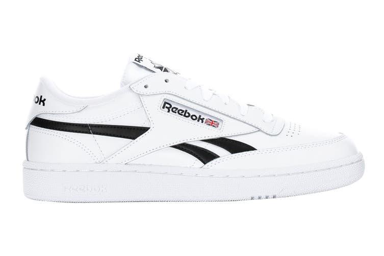 Reebok Men's Club C Revenge Sneaker (White/White/Black, Size 9.5 US)