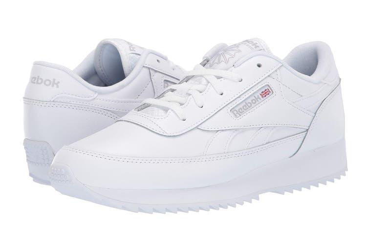 Reebok Women's Classic Renaissance Ripple Sneaker (White/Steel, Size 7 US)