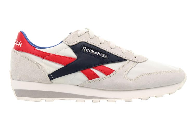 Reebok Unisex Classic Leather AZ Sneaker (Chalk/Collegiate Navy/Radiant Red, Size 10.5 US)