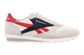 Reebok Unisex Classic Leather AZ Sneaker (Chalk/Collegiate Navy/Radiant Red, Size 9.5 US)