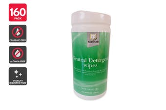 Reynard Neutral Detergent Surface Wipes (160 pack)