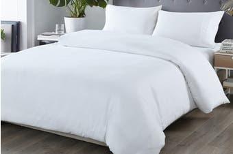 Royal Comfort Blended Bamboo Quilt Cover Set (King, White)
