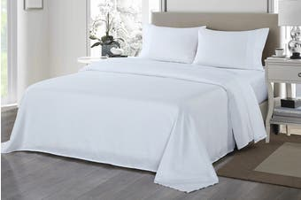 Royal Comfort 1200TC Ultrasoft Microfibre Bed Sheet Set (White)