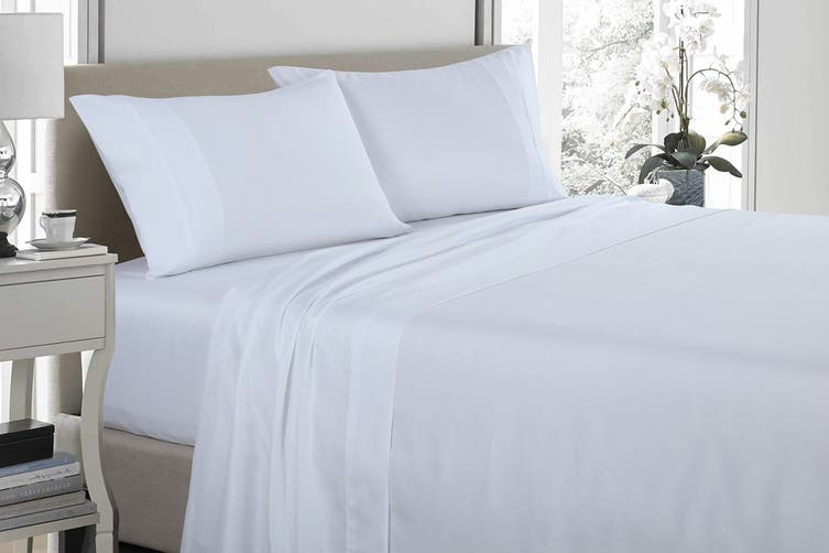 Royal Comfort 1200TC Ultrasoft Microfibre Bed Sheet Set (Double, White)