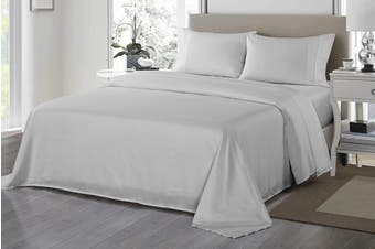 Royal Comfort 1200TC Ultrasoft Microfibre Bed Sheet Set (Silver)