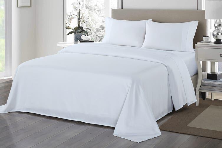 Royal Comfort 1200TC Ultrasoft Microfibre Bed Sheet Set (Queen, White)