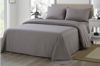 Royal Comfort 1200TC Ultrasoft Microfibre Bed Sheet Set (Queen, Charcoal)