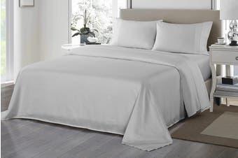 Royal Comfort 1200TC Ultrasoft Microfibre Bed Sheet Set (Queen, Silver)