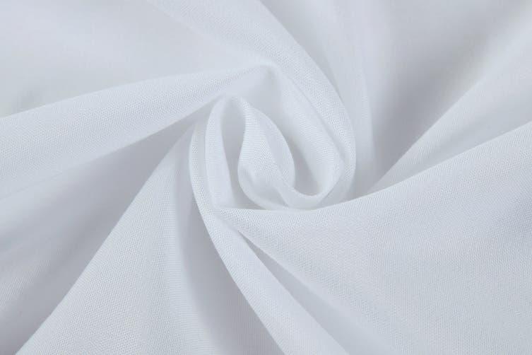 Royal Comfort 1200TC Ultrasoft Microfibre Bed Sheet Set (King, White)