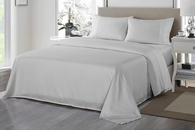 Royal Comfort 1200TC Ultrasoft Microfibre Bed Sheet Set (King, Silver)