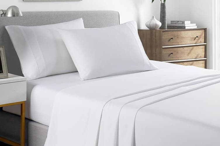 Royal Comfort 2000TC Bamboo Blend Cooling Sheet Set (Double, White)