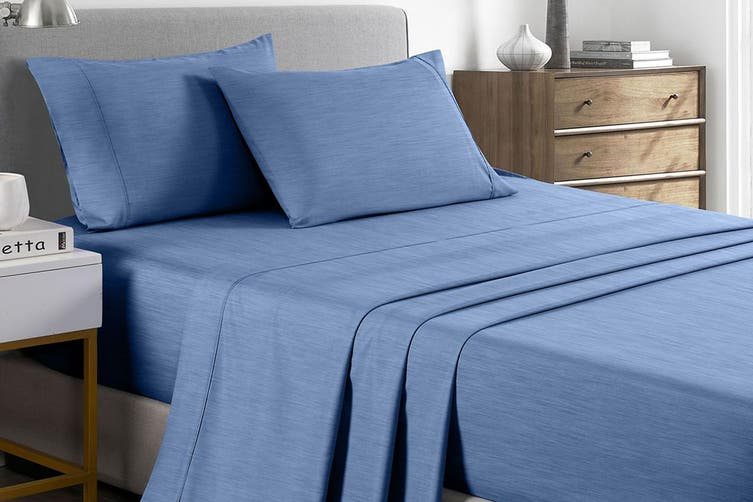 Royal Comfort 2000TC Bamboo Blend Cooling Sheet Set (Double, Denim)