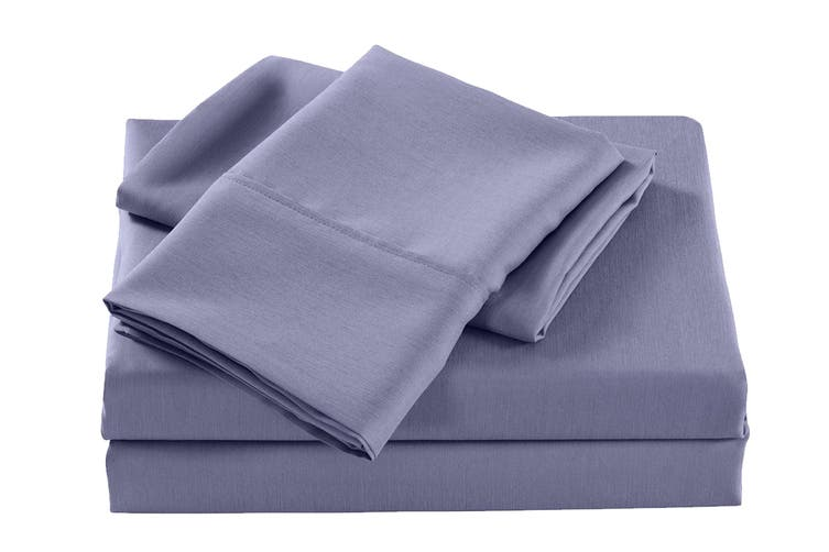 Royal Comfort 2000TC Bamboo Blend Cooling Sheet Set (Double, Lilac Grey)