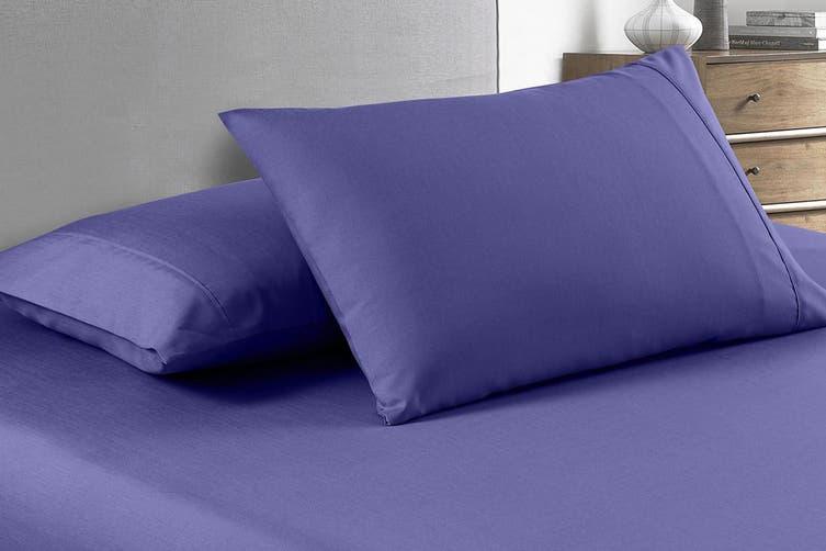 Royal Comfort 2000TC Bamboo Blend Cooling Sheet Set (Double, Royal Blue)