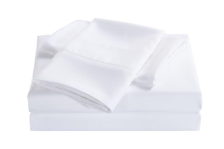 Royal Comfort 2000TC Bamboo Blend Cooling Sheet Set (King, White)