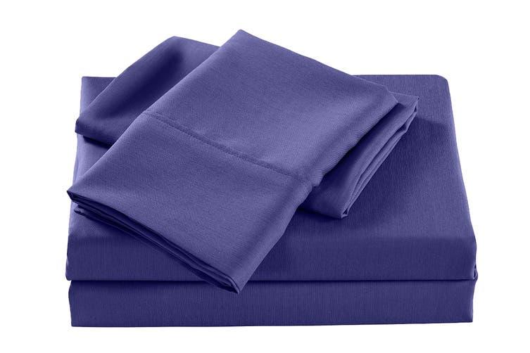 Royal Comfort 2000TC Bamboo Blend Cooling Sheet Set (Queen, Royal Blue)