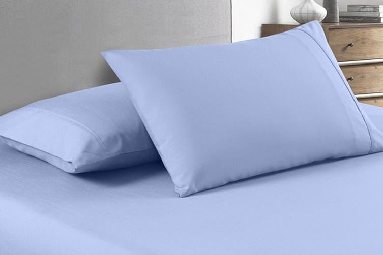 Royal Comfort 2000TC Bamboo Blend Cooling Sheet Set (King, Light Blue)