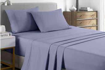 Royal Comfort 2000TC Bamboo Blend Cooling Sheet Set (King, Lilac Grey)