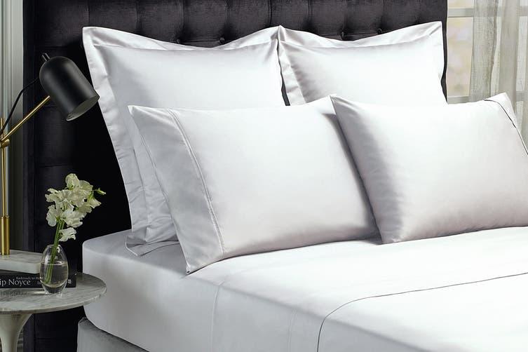 Royal Comfort 1500TC Cotton Blend Bed Sheet Set (Queen, White)