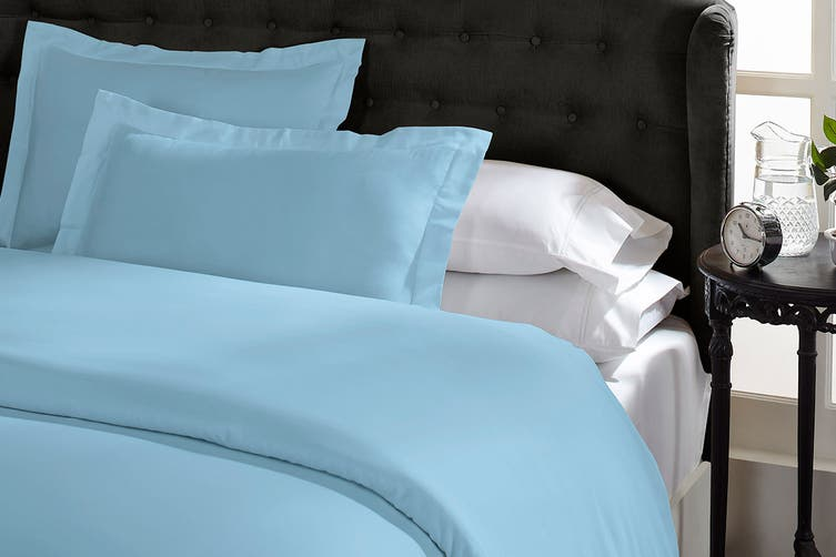 Royal Comfort 1500TC Cotton Blend Quilt Cover Set (Queen, Indigo)