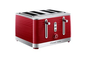 Russell Hobbs Inspire 4 Slice Toaster - Red (RHT114RED)