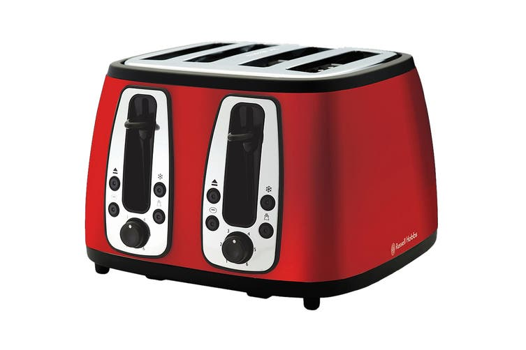 Russell Hobbs Heritage 4 Slice Toaster - Ruby Red (RHT24RED)