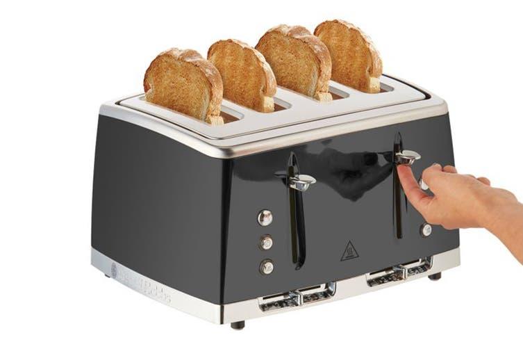 Russell Hobbs Lunar 4 Slice Toaster - Moonlight Grey (RHT64GRY)