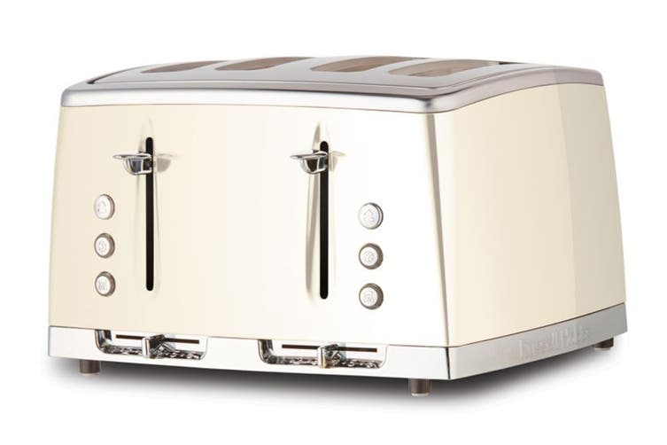 Russell Hobbs Lunar 4 Slice Toaster - Pearlescent White (RHT64WHI)