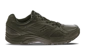 Saucony Women's Integrity ST2 Wide (D) Width Running Shoe (Black, Size 10 US)