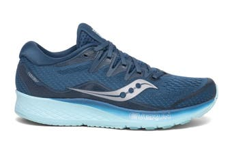 Saucony Women's Ride ISO 2 Running Shoe (Blue/Aqua, Size 6.5 US)