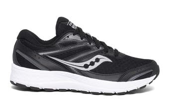 Saucony Women's Versafoam Cohesion 13 Running Shoe (Black/White, Size 8 US)