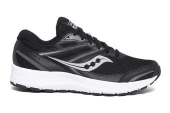 Saucony Women's Versafoam Cohesion 13 Wide (D) Width Running Shoe (Black/White, Size 9 US)