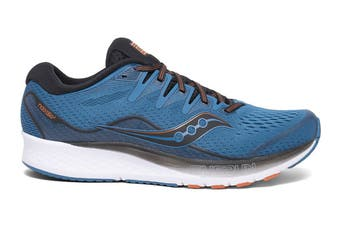 Saucony Men's Ride ISO 2 Running Shoe (Black/Blue, Size 7 US)