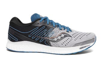 Saucony Men's Freedom ISO 3 Running Shoe (Grey/Blue, Size 9 US)