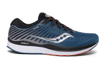 Saucony Men's Guide 13 Wide (D) Running Shoe (Blue/Silver, Size 12 US)