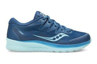 Saucony Kids Ride ISO 2 Running Shoe (Blue/Aqua)