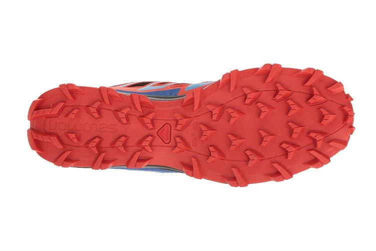 Salomon Men's Shoes Speedtrak (Black/Blue Yonder/Lava Orange, Size 7.5)