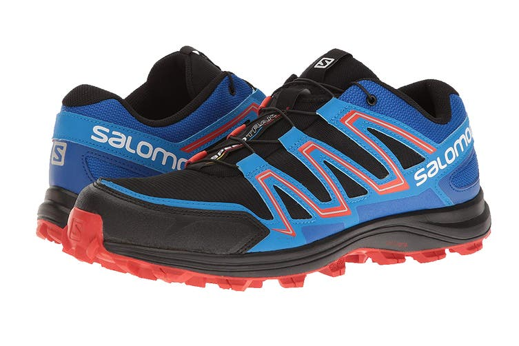 Salomon Men's Shoes Speedtrak (Black/Blue Yonder/Lava Orange, Size 9.5)