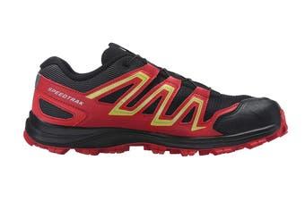 Salomon Men's Speedtrak (Black/Radiant Red/ Yellow, Size 9.5)