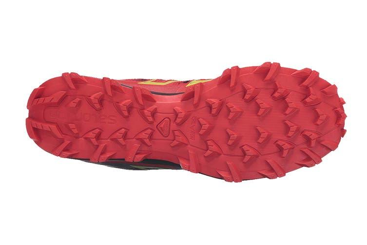 Salomon Men's Speedtrak (Black/Radiant Red/ Yellow, Size 7.5)
