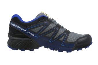 Salomon Men's Shoes Speedcross Vario Pearl (Grey/Black/Blue, Size 8.5)