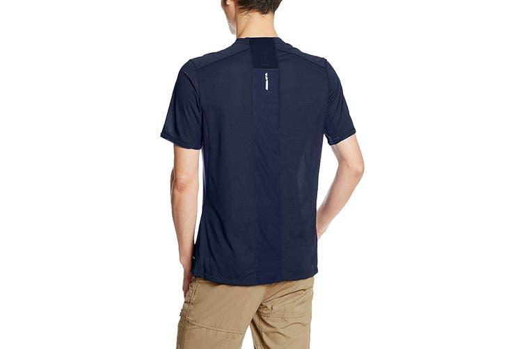 Salomon Trail Runner Short Sleeve Tee Men's (Dress Blue, Size Large)