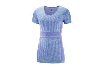 Salomon Elevate Move'On Short Sleeve Tee Women's (Purple Opu/Blue)