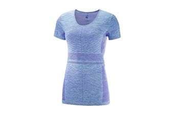 Salomon Elevate Move'On Short Sleeve Tee Women's (Purple Opu/Blue)