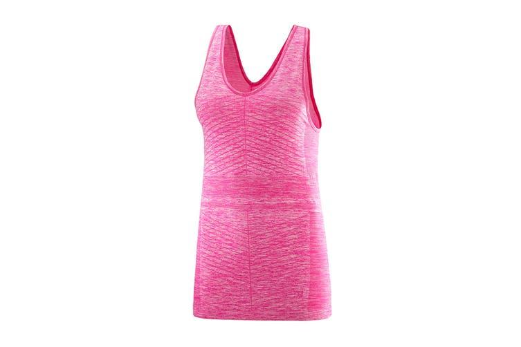 Salomon Elevate Move'On Tank Women's (Pink Yarrow, Size Large)