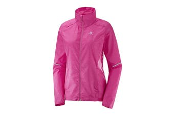 Salomon Agile Wind Jacket (Pink Yarrow, Size L)