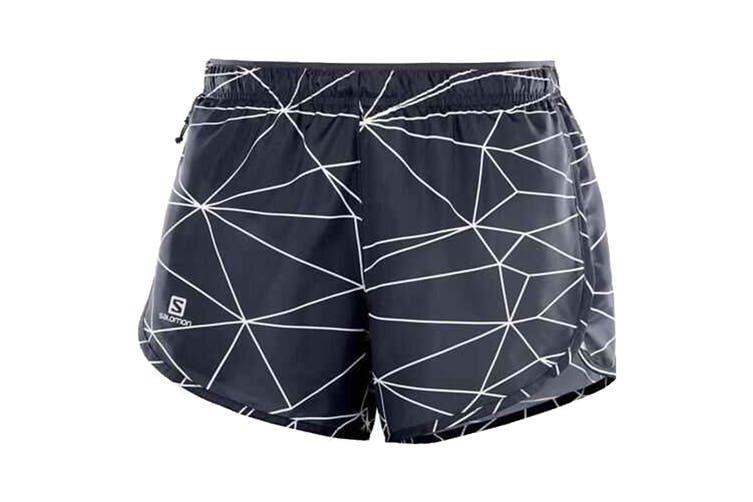 Salomon Agile Shorts Women's (Graphite/White, Size Medium)